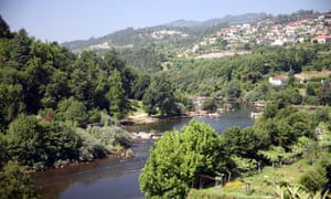 View of the Tâmega River in Amarante, Portugal.
