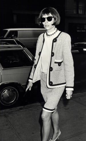 Outside the Conde Nast building in New York, August 1989.