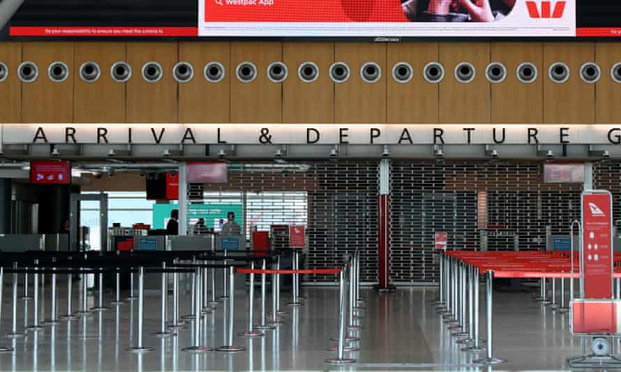 Empty terminal at Sydney airport