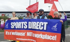 Campaigners dressed in Victorian clothing protest against Sports Direct's use of zero-hours contracts outside the company's HQ in Shirebrook, Derbyshire, last year.
