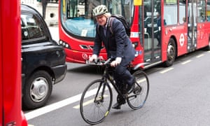 Boris Johnson was forced to give up cycling for security reasons.