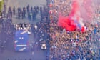 France parade World Cup in Paris as fans welcome heroes home – video