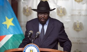 "South Sudan's Salva Kiir, who announced last year that journalists who report ""against the country"" would be targeted."