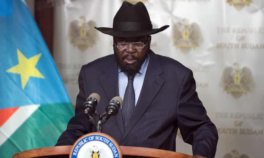 """South Sudan's Salva Kiir, who announced last year that journalists who report """"against the country"""" would be targeted."""