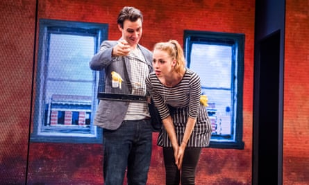 New York state of mind… Harry Lloyd and Freya Mavor in Good Canary at the Rose theatre.