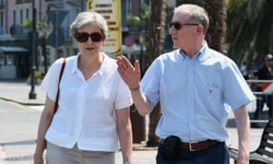 Theresa and Philip May on holiday in Italy