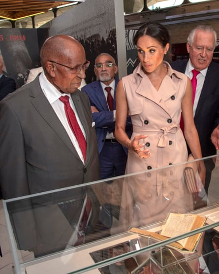 Andrew Mlangeni with the Duchess of Sussex
