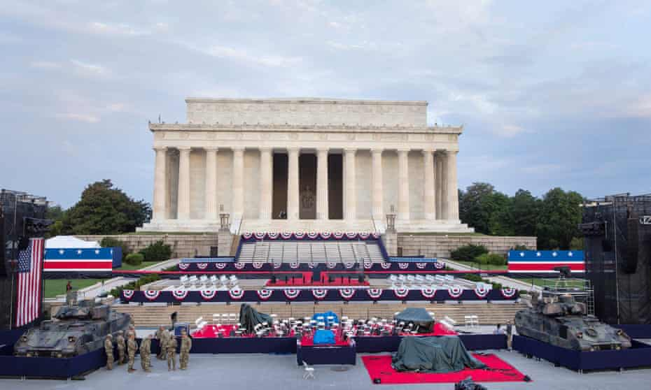 Service chiefs for the Army, Navy, Air Force or Marine Corps set to skip the planned display of military might.