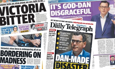 Daily Telegraph articles criticising Victoria's premier Dan Andrews