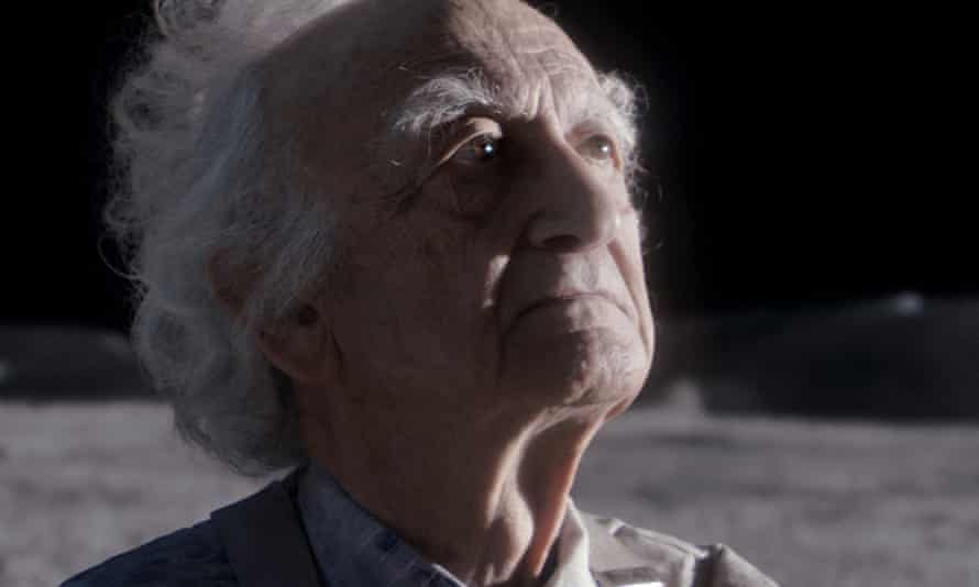 Screenshot from John Lewis Christmas Ad 2015 showing an old man on the Moon