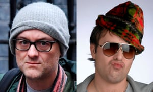 Dominic Cummings as Dominic Cummings, left, and Nicholas Burns as Nathan Barley.