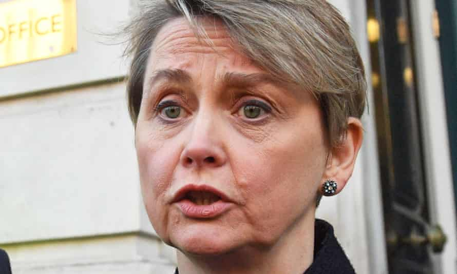 'Our NHS and social care system have relied on the contributions of those who have come from abroad throughout this crisis,' said Yvette Cooper.