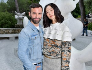Nicolas Ghesquière and Doona Bae at the Fondation Maeght