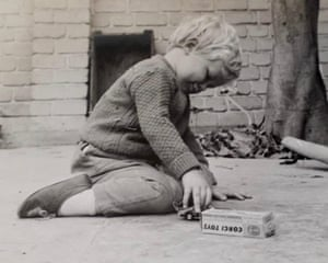 Young Martin playing with a favourite Corgi car in 1967.