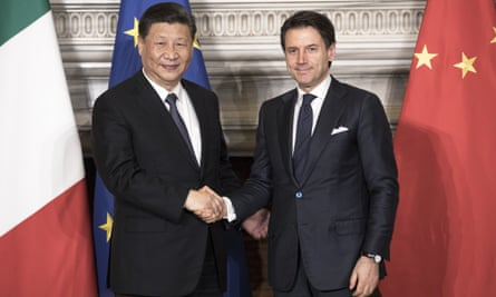 Xi Jinping and Giuseppe Conte