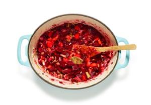 Felicity Cloake's borscht 02: prep the veg.