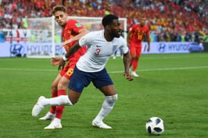 Danny Rose has been one of the stand-out performers with his driving runs in a tepid first half for England. It's 0-0 at the break.