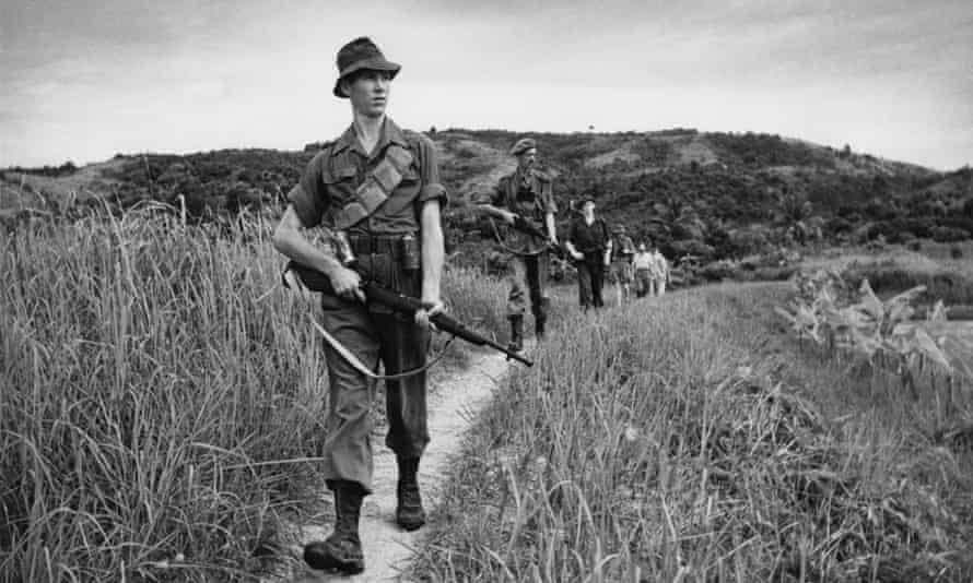 British troops during the Malayan Emergency