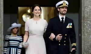 Sweden's Princess Sofia and Prince Carl Philip in 2016
