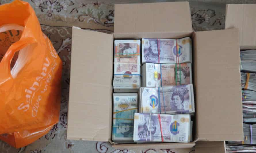 A money laundering seizure in Coventry, May 2020.