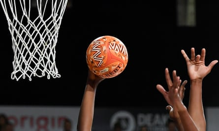 A ball is seen during Super Netball's recent Indigenous round
