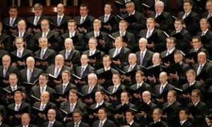 The artists formerly known as the Mormon Tabernacle Choir, who will presumably now need a new name.