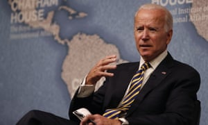 Joe Biden at the Royal Institute of International Affairs at Chatham House in London on 10 October.