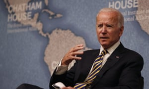 Joe Biden speaking at Chatham House in London