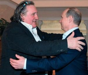 Gerard Depardieu with close friend Vladimir Putin.