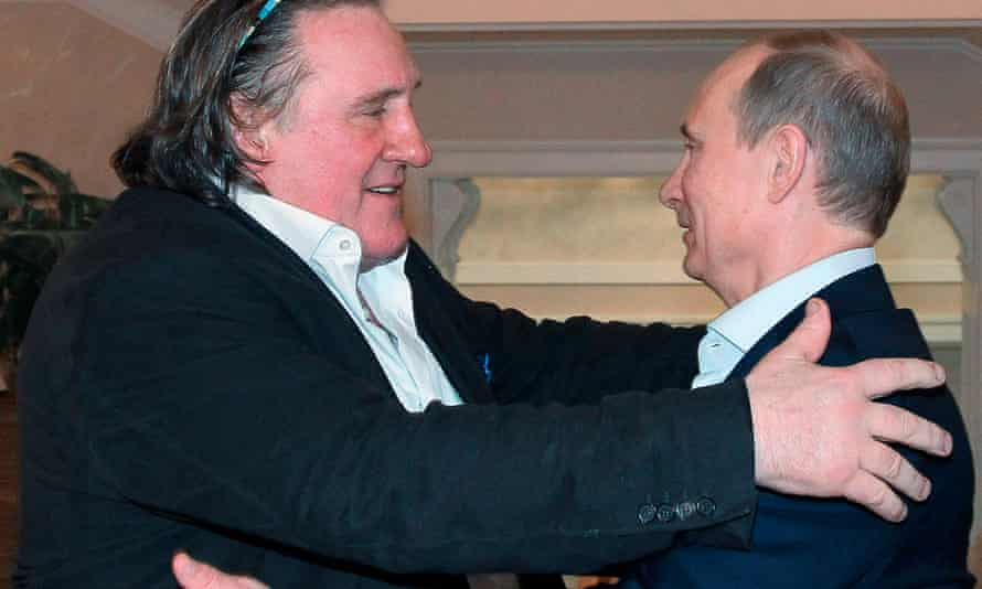 Depardieu with Putin at the president's residence in Sochi in 2013.