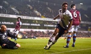 Tottenham's Mousa Dembélé takes advantage of poor defending from Ciaran Clark and slack goalkeeping from Brad Guzan to give Rémi Garde the worst possible start at Aston Villa.