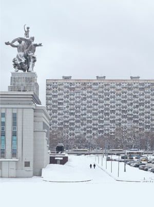 The House on Chicken Legs, a residential block designed by V Andreev and T Zaikin was built in 1968 and towers above busy Prospekt Mira in Moscow's Alexeyevsky district