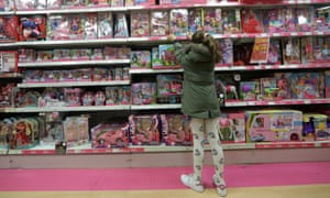 Girl in a toy shop