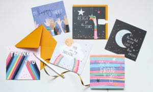 A range of Belly Button greetings cards.