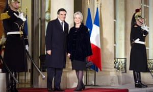 François Fillon and his wife Penelope.