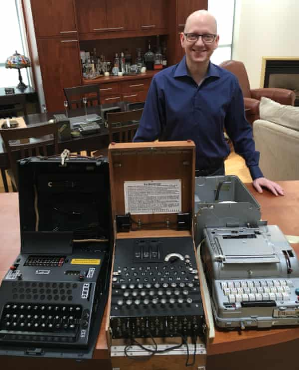 Bob Lord owns around 10 encryption machines, as well as wartime manuals and posters, but says he will eventually hand them over to a museum.