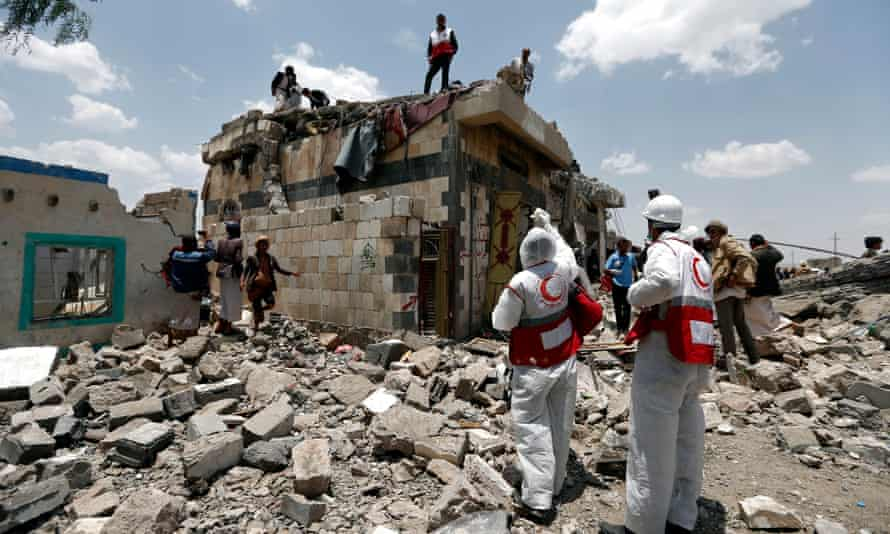 air raid in the Arhab area near Sana'a, the capital of Yemen