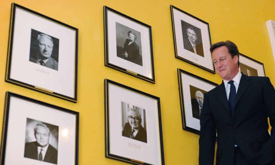 David Cameron inside 10 Downing Street