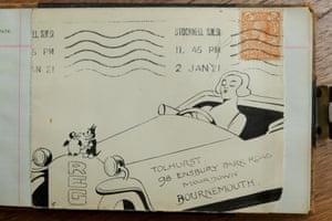 A decorated envelope sent to Reginald Tolhurst.