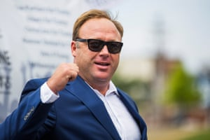Conspiracy theorist and radio talk show host Alex Jones speaks during a rally in support of Donald Trump in July 2016.