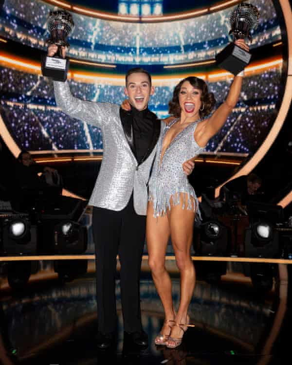 On Dancing With the Stars with partner Jenna Johnson.