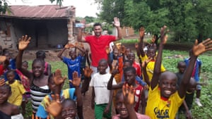 Steven Caulker on a visit to Sierra Leone with Action Aid in 2016