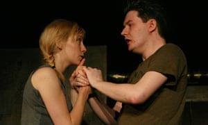 Kim Allan and Daniel Cameron in Pleading, by Rob Drummond, at A Play, A Pie and a Pint, Glasgow.