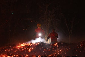 Uppermill, EnglandFirefighters tackle a fire on moorland above the village in north-west England