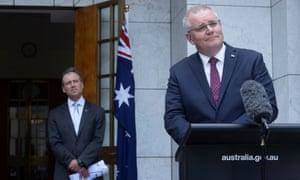 Australia's prime minister, Scott Morrison,