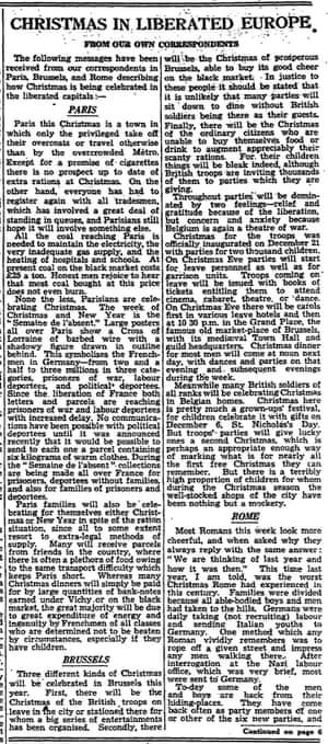 Manchester Guardian, 23 December 1944.