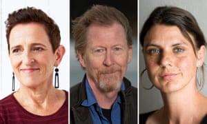 Australian authors Charlotte Wood, Chris Hammer and Anna Krien.