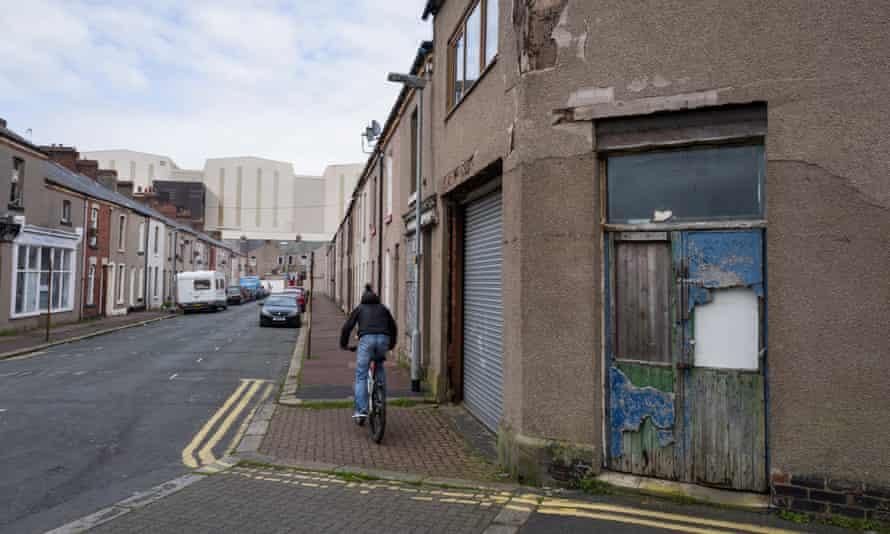 One of the most poverty-stricken coastal towns in the UK, Barrow-in-Furness.