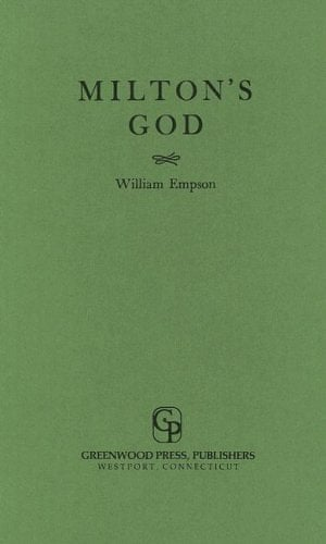 Milton's God by William Empson book cover
