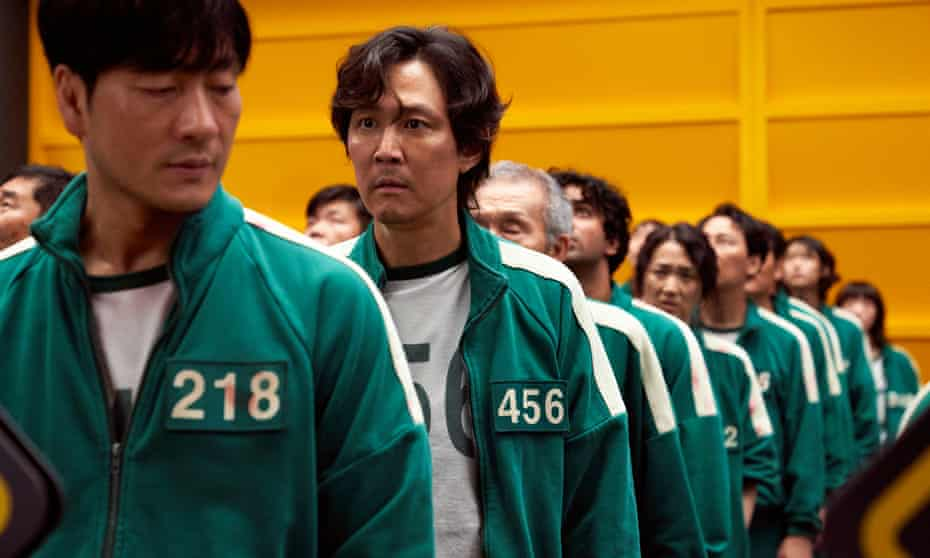 Squid Game Netflix green track suits